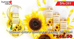 Human Nature Sunflower Beauty Oil For P142 50 At Dealspot Till December 2 201575044 75044