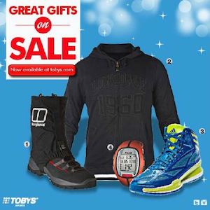 Great Gifts On Sale At Tobys Sports Offer Valid While Stocks Last75968 75968