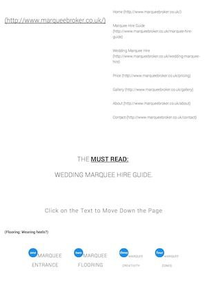 Wedding Marquee Hire Guide