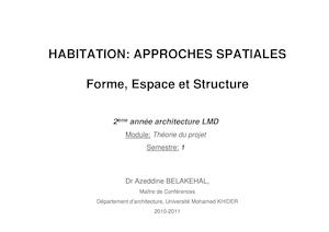 Habitation Approches Spatiales
