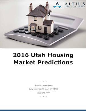 2016 Utah Housing Market Predictions