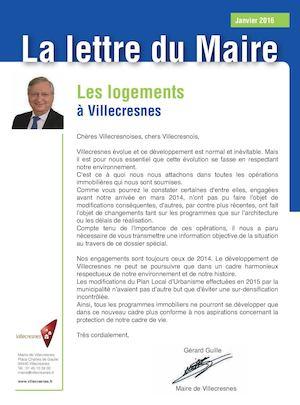 Calameo La Lettre Du Maire Les Logements A Villecresnes Janvier