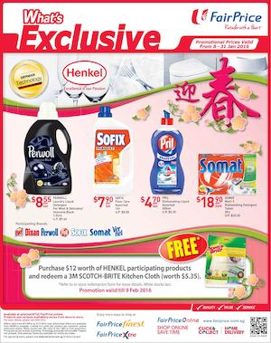 Henkel Promotion At Fairprice Offers Valid From January 8 31 201677036 77036