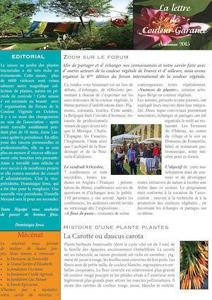 Newsletter Autommne 2015