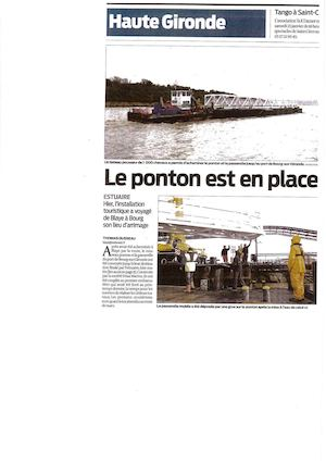 Le 2nd Ponton En Place