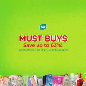 Save Up To 63 Off On Selected Items At Watsons Valid Till January 27 2016 77523