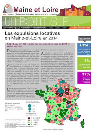 Les expulsions locatives en Maine et Loire en 2014 - Un point sur - novembre 2015