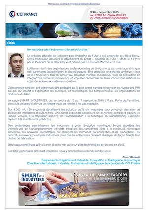 "Newsletter ""IE et Innovation"" (Septembre 2015)"
