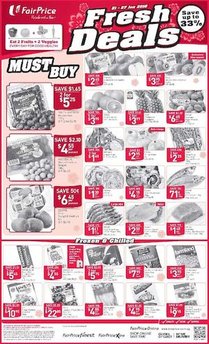 Fresh Deals At Fairprice Offers Valid From January 21 27 2016 77566