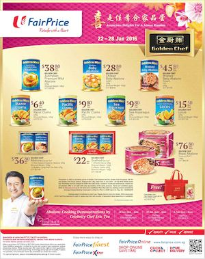 Golden Chef Promotion At Fairprice Offers Valid From January 22 28 201677575 77575