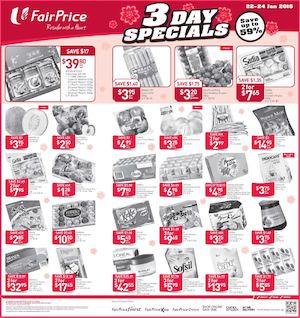 3 Day Specials At Fairprice Offers Valid From January 22 24 2016 77577