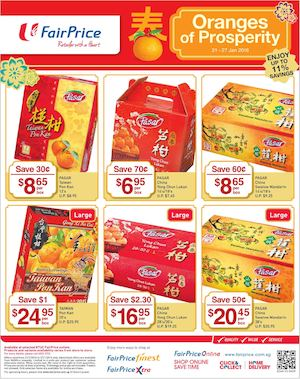 Oranges Of Prosperity At Fairprice Offers Valid From January 21 27 201677588 77588