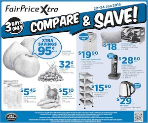 Compare And Save At Fairprice Xtra Offers Valid From January 22 24 2016 77593