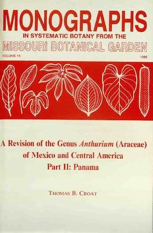 A Revision Of The Genus Anthurium (Araceae) Of Mexico And Central America