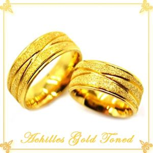 Achilles Gold Toned Stainless Steel Couple Ring For P631 75 At Dealspot Till March 31 2016 77837