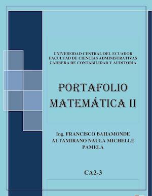 Calaméo - Portafolio Matemática CA2-3