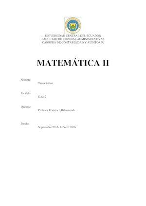Calaméo - matemàtica 2 uce