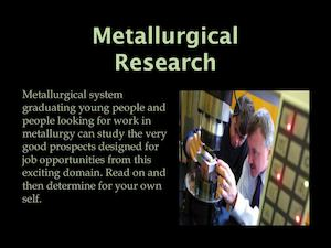 Metallurgical Research
