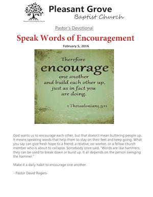 words that mean encouragement