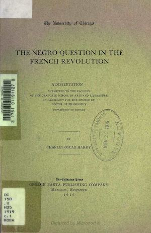 The negro question in french revolution