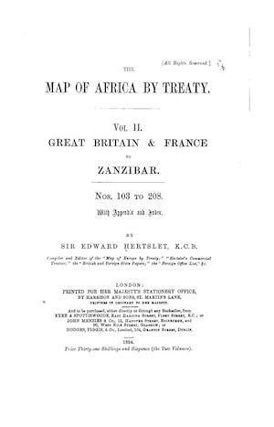 The map of Africa by treaty par Hertslet, Edward Sir