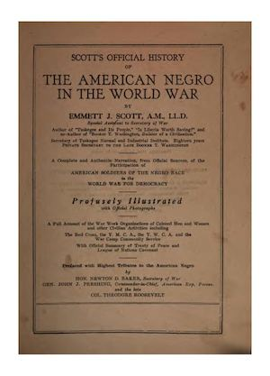 Scott's official history of the American Negro in the World War