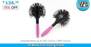 3d Bomb Curl Styling Comb For Only P126 50 Available At Dealspot Till March 31 2016 78552
