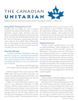 The Canadian Unitarian Spring 2016