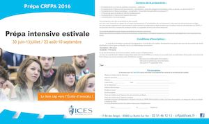 ICES - Prépa CRFPA 2016 - Nantes - Rennes - Poitiers