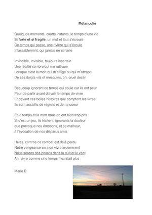 Calaméo Anthologie De Poésie Poèmes Créés Par Les élèves