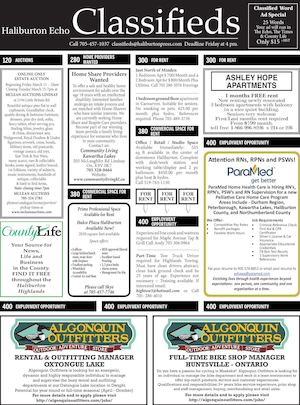 Classifieds March 8, 2016