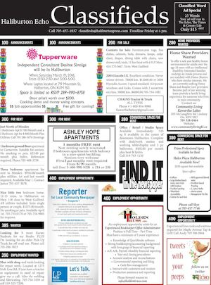 Classifieds March 15, 2016
