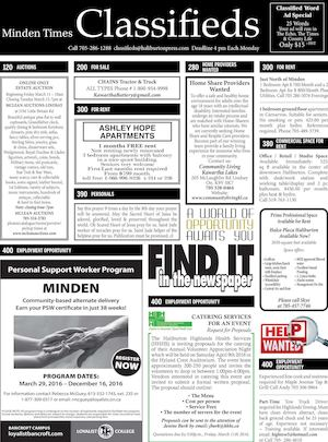 Classifieds March 10, 2016