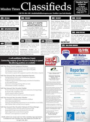 Classifieds March 31, 2016