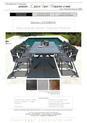 Calaméo - table jardin luxe - table jardin haut de gamme