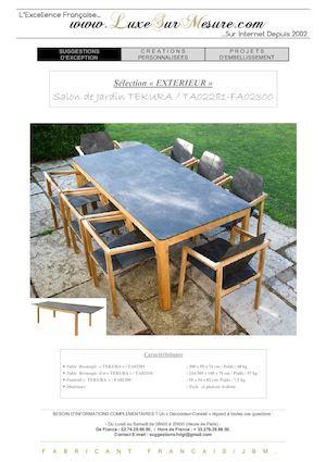 Calaméo - salon jardin luxe bois FSC - salon jardin haut de gamme ...