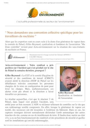 Interview Gilles Reynaud 06-04-16