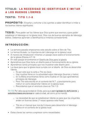 Calaméo - Eliseo Gomez - 2  Tito 1 1-5 Buenos Ejemplos En El