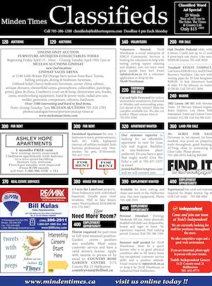 Classifieds April 14, 2016