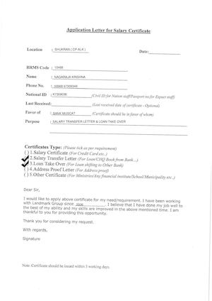 Calameo Application Letter For Salary Certificate