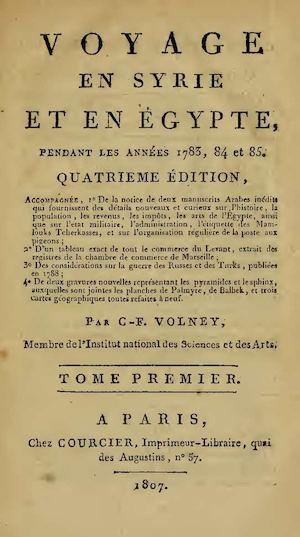 Voyage En Syrie Et En Egypte Pendant Les Annees 1783  84 Et 85 Tome1 Et  Tome2 5895ebf440f
