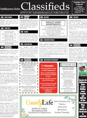 Classifieds April 19, 2016