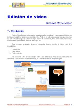 Práctica 1 Movie Maker