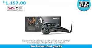 Pro Perfect Curl Black For P1157 Available At Dealspot Till June 30 201681434 81434