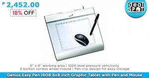 Genius Easy Pen Graphic Tablet With Pen And Mouse For P2452 At Dealspot Till June 30 201681436 81436