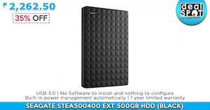 Seagate Stea500400 Ext 500gb Hdd For P2262 50 Available At Dealspot Till June 30 201681458 81458