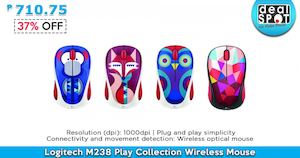 Logitech M238 Play Collection Wireless Mouse For P710 75 Available At Dealspot Till June 30 2016 81464