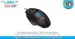 Logitech G402 Hyperion Fury Gaming Mouse For P1885 50 Available At Dealspot Till June 30 201681463 81463
