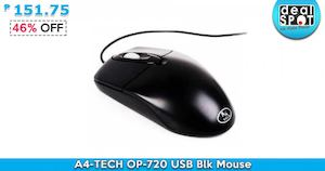 A4 Tech Op 720 Usb Blk Mouse For P151 75 Available At Dealspot Till June 30 201681490 81490