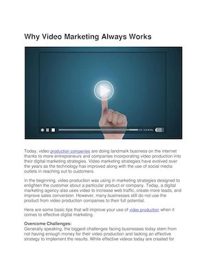 Why Video Marketing Always Works